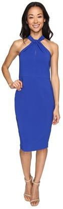 Christin Michaels - Amal Crepe Halter Dress Women's Dress $159 thestylecure.com