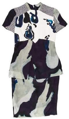 Michael Van Der Ham Printed Knee-Length Dress