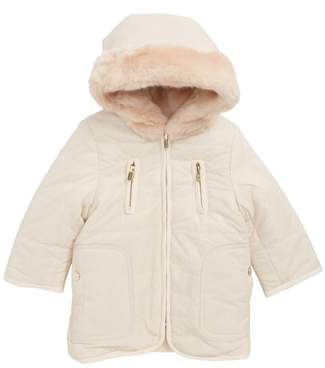 Chloé Reversible Hooded Faux Fur Puffer Jacket