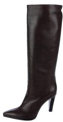 Christian Lacroix Leather Knee-High Boots