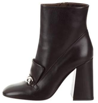 Burberry Round-Toe Ankle Boots