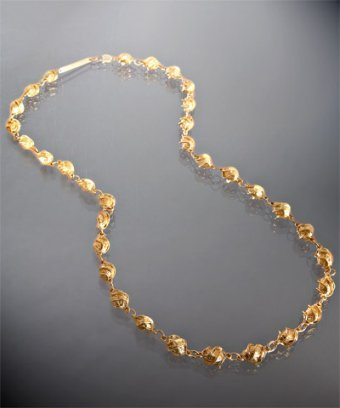 Rachel Leigh 14k gold plated 'Cleon' twisted bead layering necklace