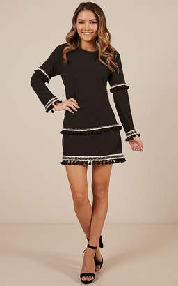 Showpo To The Heart dress in black Casual Dresses