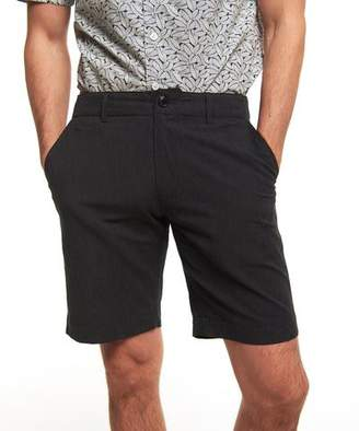 Todd Snyder Surplus Shorts In Charcoal Micro Stripe