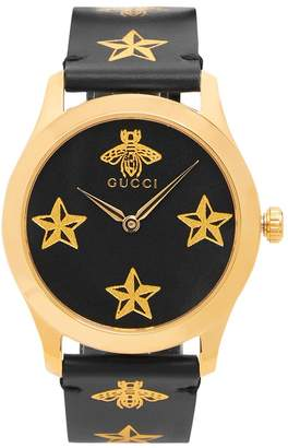 Gucci G-Timeless bee and star-print watch