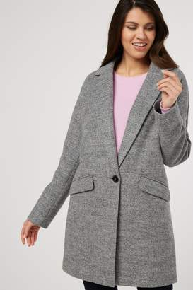 Next Womens Pink Wool Mix Coat