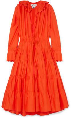 Evi Grintela - Marie Tiered Ruffle-trimmed Cotton Midi Dress