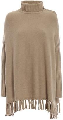 Snobby Sheep Fringed Poncho Sweater