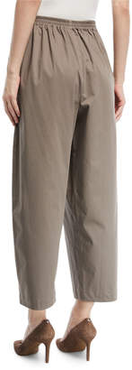 eskandar Cropped Stretch-Poplin Japanese Trousers