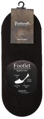 Pantherella No-Show Socks in Black Egyptian Cotton