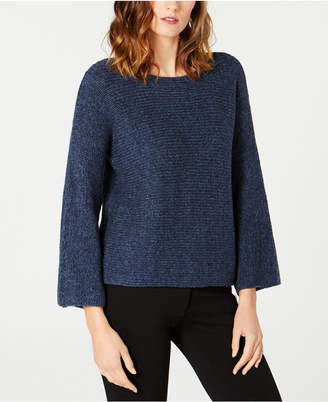 Eileen Fisher Textured-Knit Baby Alpaca Flared Sweater