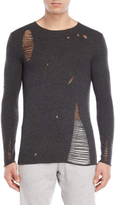 Bolongaro Trevor Charcoal Distressed Sweater