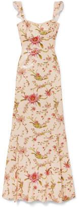 Rachel Zoe Leola Floral-print Sequined Georgette Gown - Blush