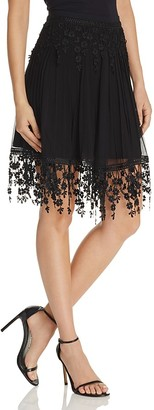 Elie Tahari Brielle Embroidered Skirt $298 thestylecure.com