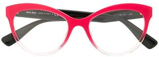 Miu Miu cat-eye shaped glasses