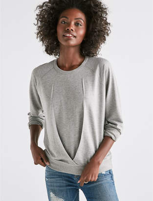 Lucky Brand PLEATED FRONT SWEATSHIRT