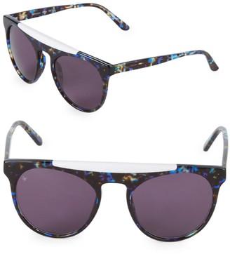 Smoke X Mirrors Atomic 52MM Round Sunglasses