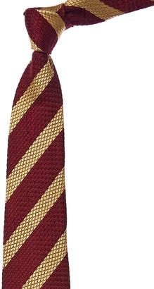 Chanel Burgundy & Gold Silk Tie