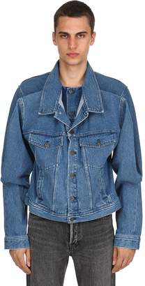 Y/Project Layered Front Cotton Denim Jacket