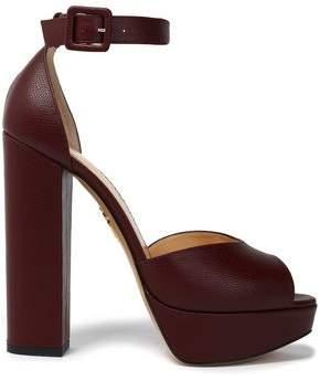 Charlotte Olympia Pebbled-Leather Platform Sandals