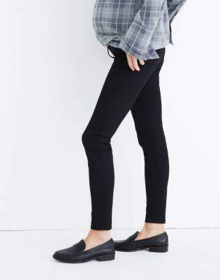 Madewell Maternity Skinny Jeans in Black Frost