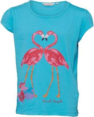Board Angels Girls Flamingo T-Shirt Blue