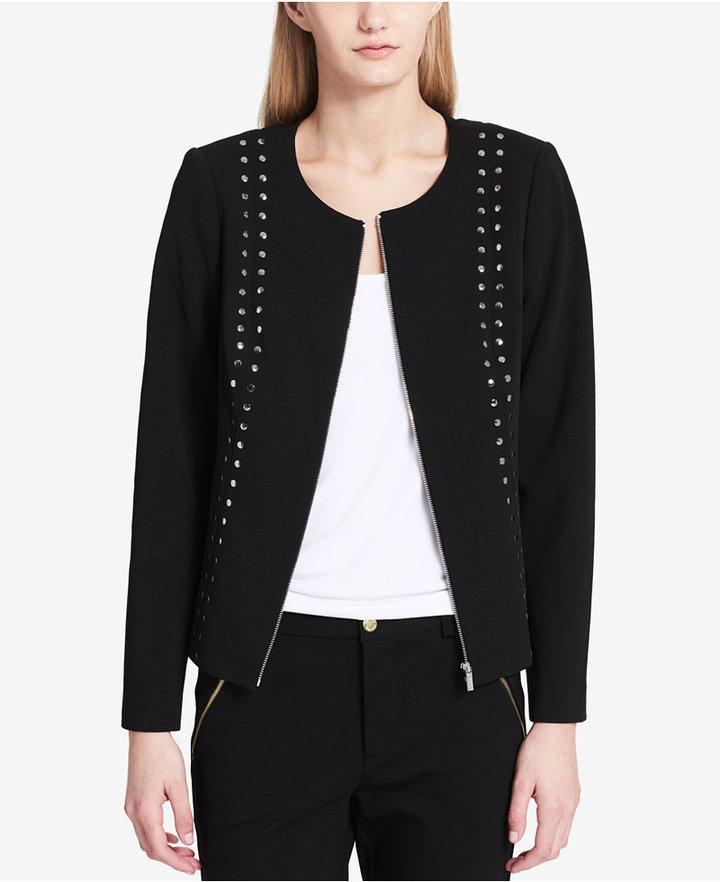 Calvin Klein Studded Zip Moto Jacket