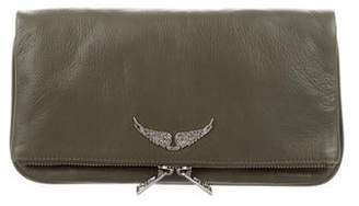 Zadig & Voltaire Leather Foldover Clutch