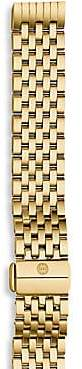 Michele Women's Gold-Plated Stainless Steel Chain-Link Watch Strap