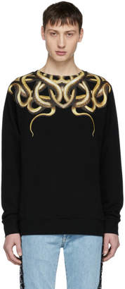 Marcelo Burlon County of Milan Black Snake Sweatshirt