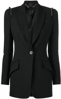 Alexander McQueen ruffle detail blazer