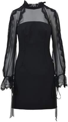 Alberta Ferretti Sheer Panel Dress