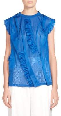 Givenchy Perforated Ruffled Trim Top
