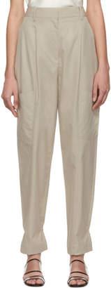 Tibi Beige Twill Cargo Trousers