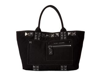 Marc Jacobs Canvas Chipped Studs Tote Tote Handbags