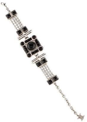 Celine Crystal & Resin Link Bracelet