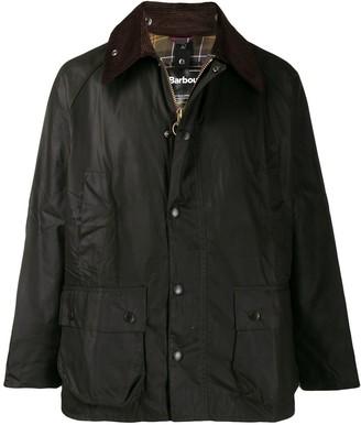 Barbour contrast-collar light jacket