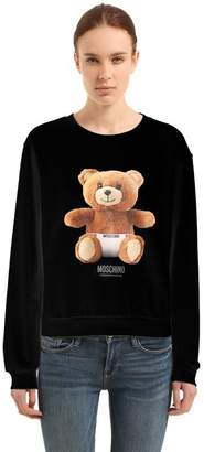 Moschino Teddy Bear Logo Print Cotton Sweatshirt