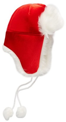Women's Collection Xiix Santa Trapper Hat With Faux Fur Trim - Red $32 thestylecure.com