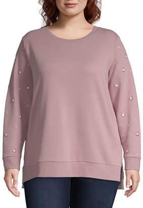 ST. JOHN'S BAY Step Hem Sweatshirt - Plus