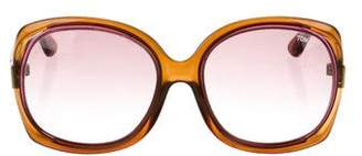 Tom Ford Oversize Logo Sunglasses