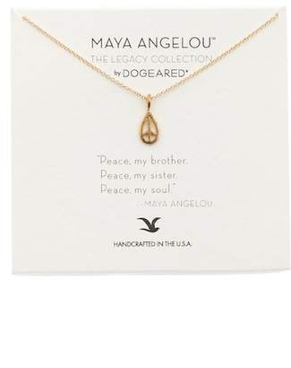Dogeared Maya Angelou Peace My Brother Pendant Necklace