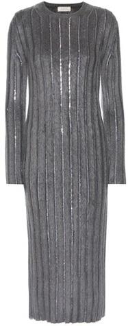 Nina RicciNina Ricci Wool-blend Dress With Sequins