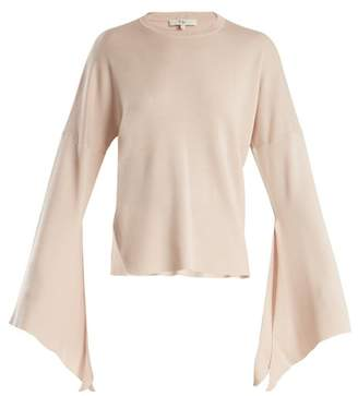 Tibi Slit Side Wool Blend Knit Sweater - Womens - Nude
