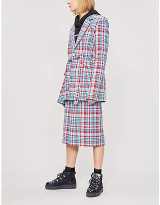 House of Holland Tailored-fit checked woven jacket