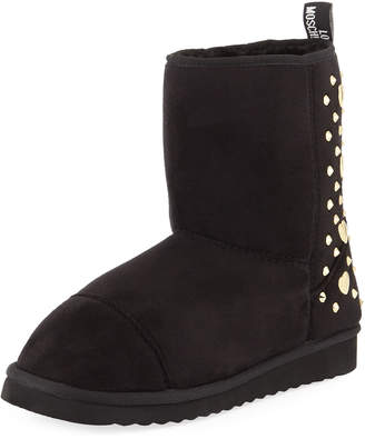 Love Moschino Studded Suede Ankle Boots