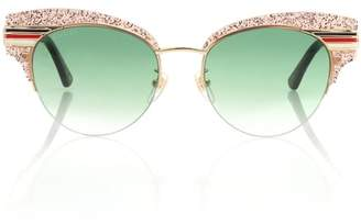 Gucci Glitter half-rim sunglasses