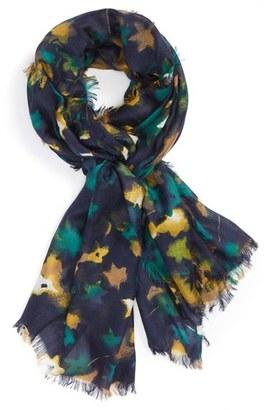 Women's Nordstrom Mystic Floral Cashmere & Silk Scarf $99 thestylecure.com