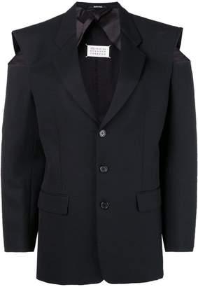 Maison Margiela cut-out shoulder blazer