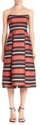 Nicholas Striped Strapless Dress